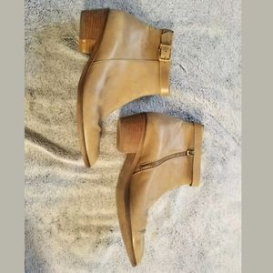 J.Crew Tan Leather Booties Size 7 Made in Italy